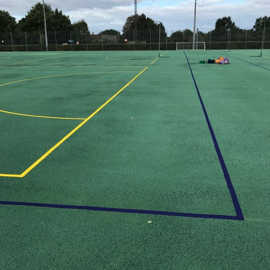 Exterior Football and netball line markings After