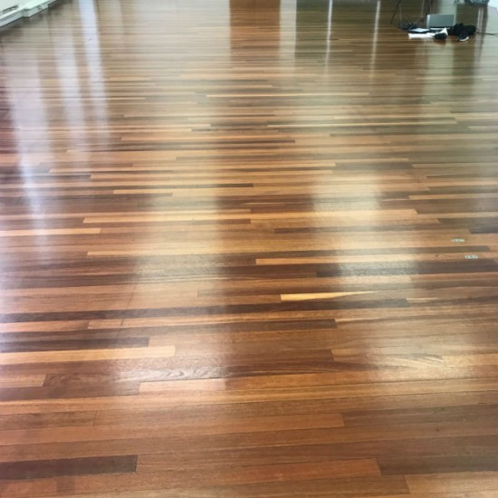 After sand and seal of school gym floor