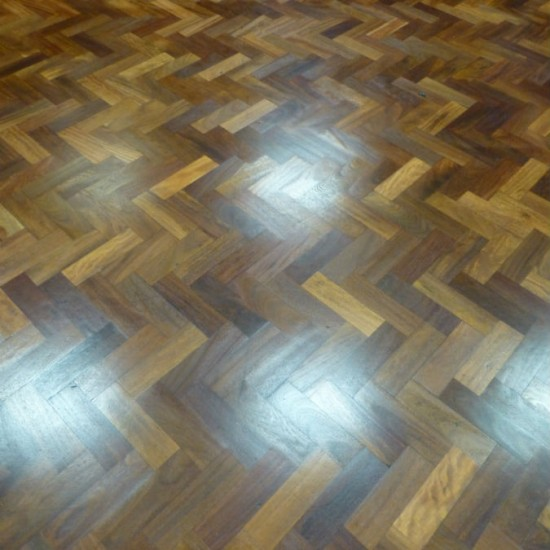 College main hall floor after sand