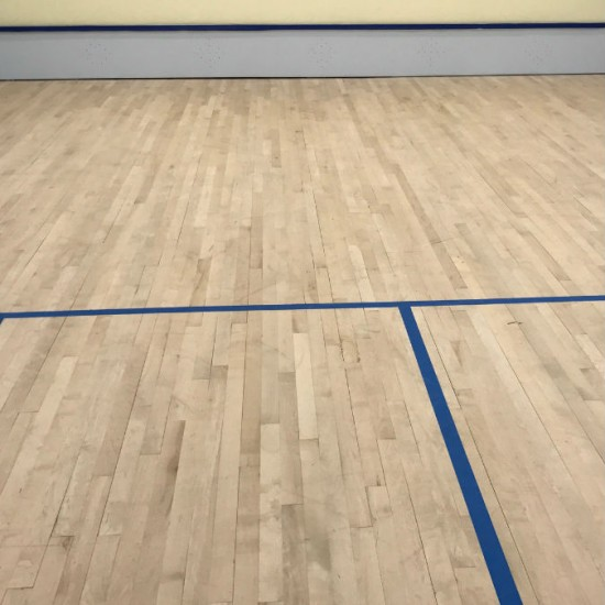 After repairs and court markings to squash court suffolk